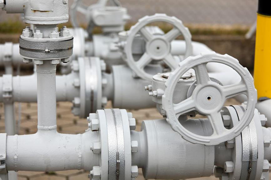 Pipes of a gas pipeline industry